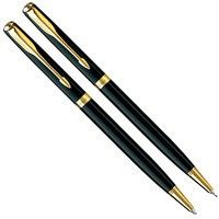 Набор Parker Sonnet 08: шариковая ручка и карандаш Slim Laque Black 85 873